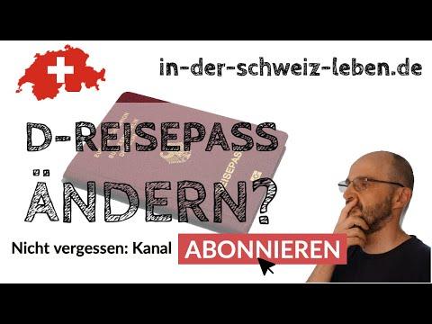 Wohnortänderung im Pass oder Ausweis eintragen lassen als Deutscher in der Schweiz